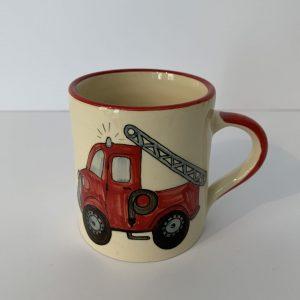 Schwendener – Kindertasse Rot Feuerwehr