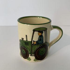 Schwendener – Kindertasse Grün Traktor