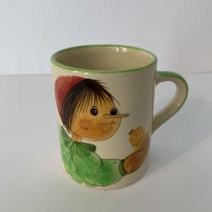 Schwendener – Kindertasse Hellgrün Pinocchio