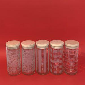 Glasart – Vorratsdosen mit Deckel 70cl