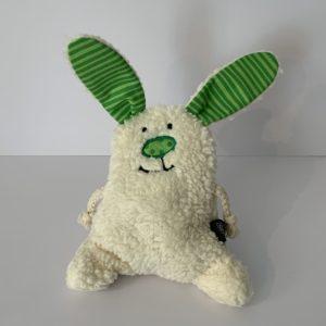 Quellenhof – Chriesistei-Kissen Hase grün