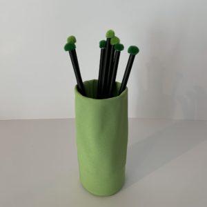 """tät tat – Brillen- oder Stiftehalter """"Sacco"""" grün"""