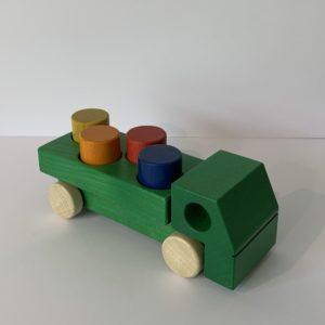 Weizenkorn – Lastwagen mit Klötzen grün
