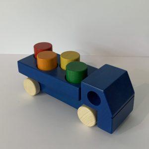 Weizenkorn – Lastwagen mit Klötzen blau