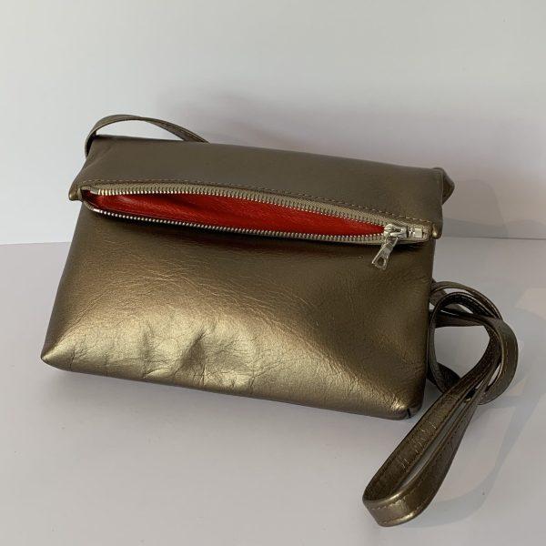 Bubble – Handtasche mini bronze