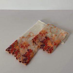 Henggeler – Pulswärmer weiss – orange/lila/rot