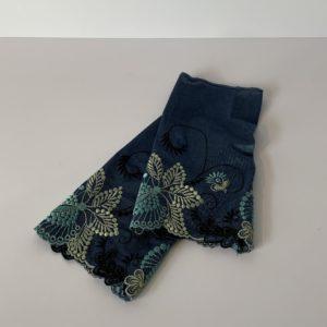 Henggeler – Pulswärmer dunkelblau – hellblau/schwarz