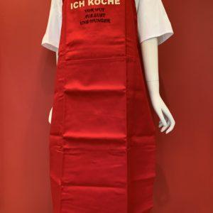 """Grünenburg – Latzschürze """"Ich koche vor Wut"""" rot"""