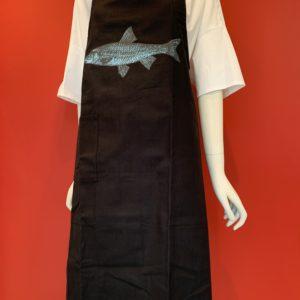 Siebsachen – Latzschürze Fisch schwarz