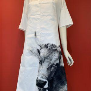 Steinlin – Latzschürze Kuh weiss